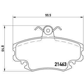 Bremsbeläge (P 68 008) hertseller BREMBO für RENAULT TWINGO II (CN0_) ab Baujahr 10.2010, 75 PS Online-Shop