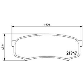BREMBO Bremsbelagsatz, Scheibenbremse (P 83 024) niedriger Preis