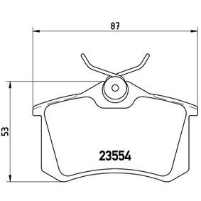 BREMBO Brake Pad Set, disc brake Rear Axle, Front Axle Article № P 85 020 prices