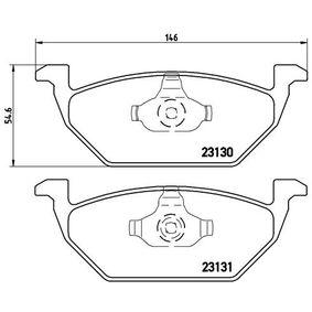 BREMBO Bremsbelagsatz, Scheibenbremse Vorderachse Artikelnummer P 85 041 Preise