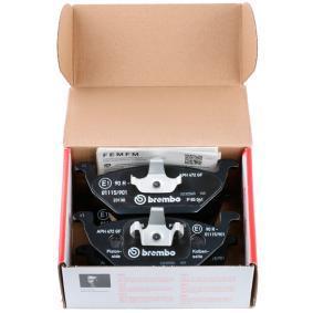 BREMBO Kit de plaquettes de frein, frein à disque 8020584058442
