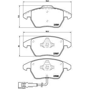 BREMBO Kit de plaquettes de frein, frein à disque P 85 075