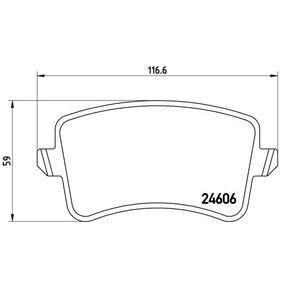 8K0698451E für VW, AUDI, SKODA, SEAT, Bremsbelagsatz, Scheibenbremse BREMBO (P 85 100) Online-Shop
