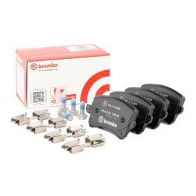 3C0698451F für VW, AUDI, SKODA, SEAT, PORSCHE, Bremsbelagsatz, Scheibenbremse BREMBO (P 85 109) Online-Shop