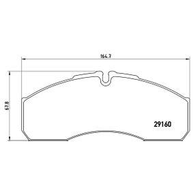 Bremsbelagsatz, Scheibenbremse BREMBO Art.No - P A6 022 OEM: 5001844748 für VW, RENAULT, NISSAN, IVECO, MAN kaufen