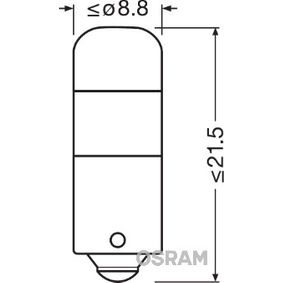 OSRAM Handschuhfachbeleuchtung 3850CW-02B für AUDI 100 1.8 88 PS kaufen