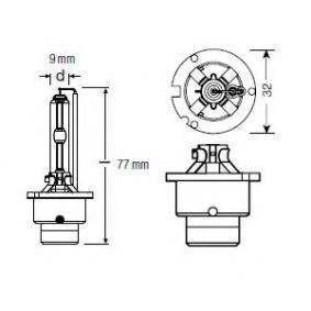 OSRAM Glühlampe, Fernscheinwerfer D2S für MERCEDES-BENZ bestellen