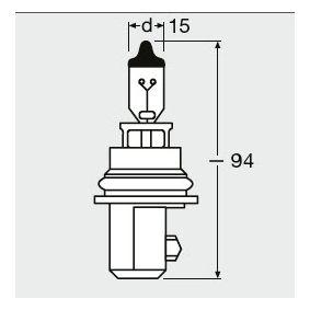9004 Крушка с нагреваема жичка, главни фарове от OSRAM качествени части