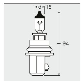 9004 Bulb, headlight from OSRAM quality parts