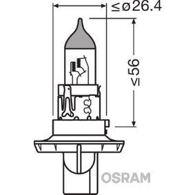 Крушка с нагреваема жичка, фар за дълги светлини (9008) от OSRAM купете