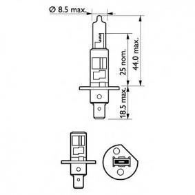 AUDI 90 (89, 89Q, 8A, B3) PHILIPS Fernscheinwerfer Glühlampe 12258 PRB1 bestellen