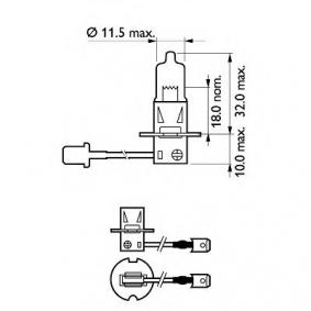 AUDI 90 (89, 89Q, 8A, B3) PHILIPS Fernscheinwerfer Glühlampe 12336 PRC1 bestellen