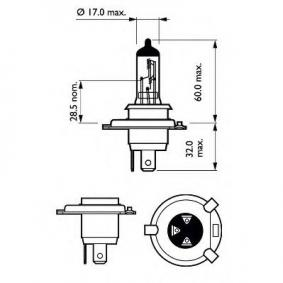 FORD ESCORT VI Stufenheck (GAL) PHILIPS Fernscheinwerferglühlampe 12342 VPB1 bestellen