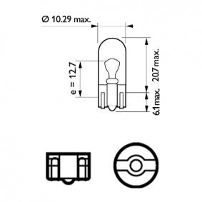 Number plate light bulb 12961B2 PHILIPS