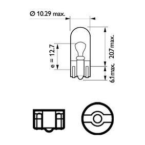 PHILIPS HONDA CIVIC - Rendszámtábla világítás izzó (12961B2) Test