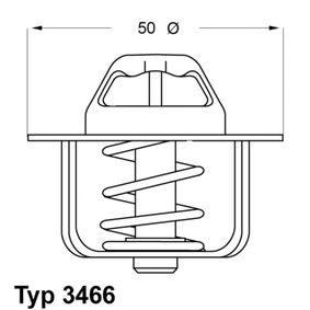 Thermostat, Kühlmittel WAHLER Art.No - 3466.89D OEM: 91159950 für OPEL, RENAULT, NISSAN, CHEVROLET, DACIA kaufen