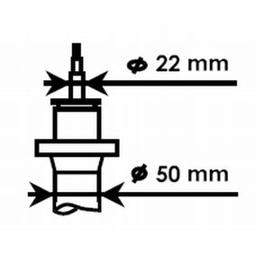Stoßdämpfer KYB Art.No - 334834 OEM: 6Q0413031CD für VW, AUDI, SKODA, SEAT kaufen