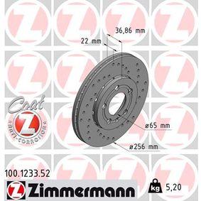 ZIMMERMANN Bremsscheibe (100.1233.52) niedriger Preis