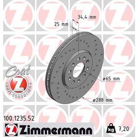 ZIMMERMANN Bremsscheibe (100.1235.52) niedriger Preis
