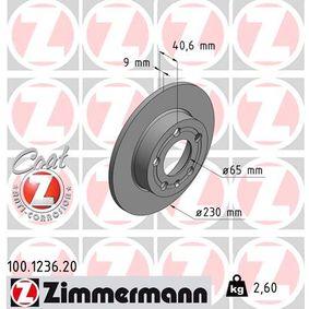 ZIMMERMANN Bremsscheibe (100.1236.20) niedriger Preis