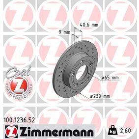 ZIMMERMANN Disc frana (100.1236.52) la un preț favorabil