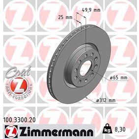 ZIMMERMANN Disc frana (100.3300.20) la un preț favorabil