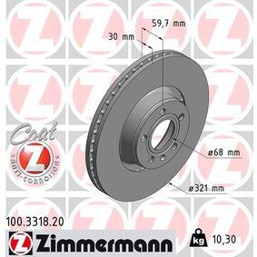 ZIMMERMANN Bremsscheibe (100.3318.20) niedriger Preis