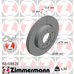 ZIMMERMANN Bremsscheibe 150.1288.20