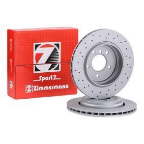 34216855157 für BMW, Bremsscheibe ZIMMERMANN (150.1295.52) Online-Shop