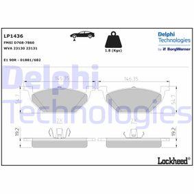 DELPHI Bremsbelagsatz, Scheibenbremse LP1436