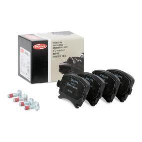 1K0698451D für VW, AUDI, FORD, SKODA, SEAT, Bremsbelagsatz, Scheibenbremse DELPHI (LP1824) Online-Shop