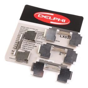 800 (XS) DELPHI Комплект принадлежности, дискови накладки LX0301