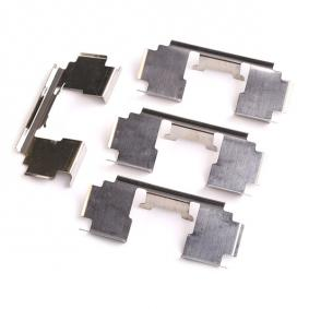 DELPHI Комплект принадлежности, дискови накладки LX0301