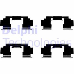 DELPHI ROVER 800 Комплект принадлежности, дискови накладки (LX0301)