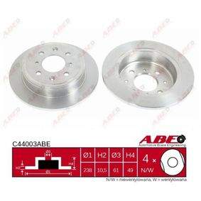 ABE Ремонтен комплект, долна помпа на съединител C44003ABE