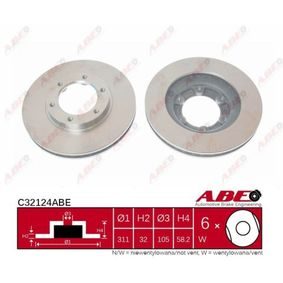 Bremsscheibe ABE Art.No - C32124ABE kaufen