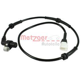 Sensor, Raddrehzahl METZGER Art.No - 0900016 kaufen
