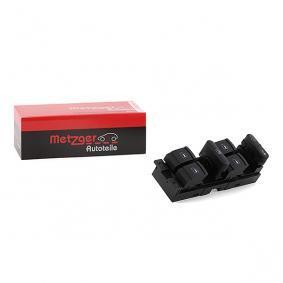 METZGER Interruptor, fecho das portas para veículos c/elev. de vidros eléctricos à frente e atrás do lado do condutor 0916007 de qualidade original