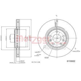 METZGER Bremsscheibe 402064155R für RENAULT, NISSAN, RENAULT TRUCKS bestellen