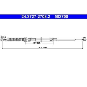 Ръчна спирачка ATE (24.3727-2708.2) за VW GOLF Цени