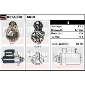 DELCO REMY Anlasser DRS6330 für AUDI 80 2.0 E 16V 140 PS kaufen