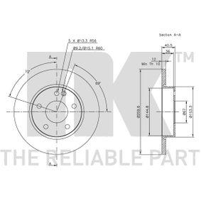 MERCEDES-BENZ CLASE A (W168) NK Sensor de nivel de depósito 203345 comprar