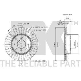 800 (XS) NK Комплект спирачни дискове 204009
