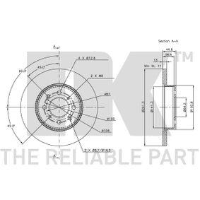 SDB100500 за ROVER, MG, Спирачен диск NK (204012) Онлайн магазин