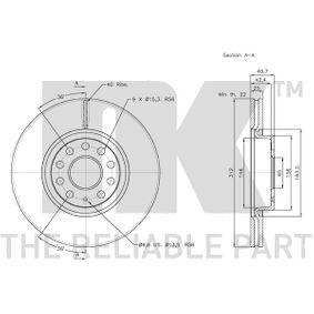 8V0698302B pour VOLKSWAGEN, AUDI, SEAT, SKODA, Disque de frein NK (2047115) Boutique en ligne