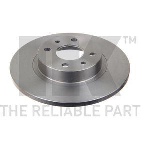 спирачен диск NK Art.No - 209932 OEM: 51859075 за FIAT, ALFA ROMEO, LANCIA, CHRYSLER купете