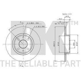 51859075 für FIAT, ALFA ROMEO, LANCIA, CHRYSLER, спирачен диск NK(209932) Онлайн магазин
