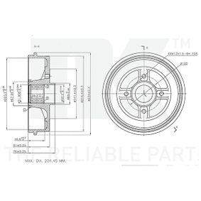 TWINGO II (CN0_) NK Bremstrommel 253929