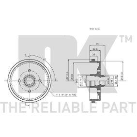 171501615A für VW, AUDI, FORD, SKODA, SEAT, Bremstrommel NK (254708) Online-Shop