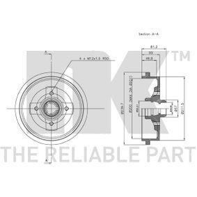 1H0501615B für VW, AUDI, SKODA, SEAT, Bremstrommel NK (254709) Online-Shop